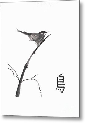 Metal Print featuring the painting Bird by Sibby S