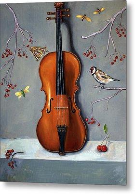 Bird Song Metal Print by Leah Saulnier The Painting Maniac