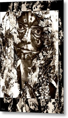 Bird Woman Metal Print