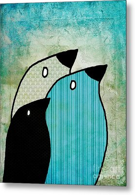 Birdies - 6904a Metal Print by Variance Collections