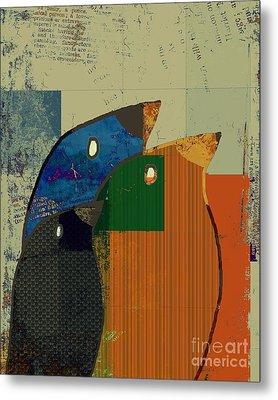 Birdies - C412-j128121170 Metal Print by Variance Collections