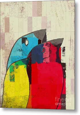 Birdies - J039088097a Metal Print by Variance Collections
