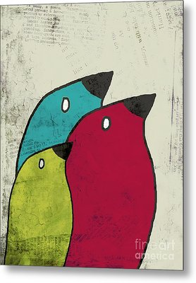 Birdies - V101s1t Metal Print by Variance Collections