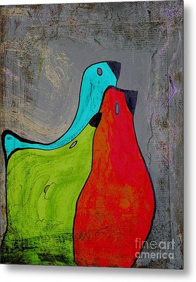 Birdies - V110b Metal Print by Variance Collections