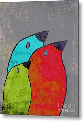 Birdies - V11b Metal Print by Variance Collections