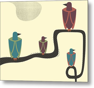 Birds - 2 Metal Print by Finlay McNevin