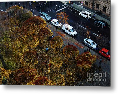 Bird's Eye Of A Berlin Street Metal Print