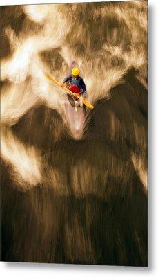 Birds-eye View Of Kayaker Metal Print