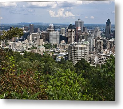 Birds Eye View Of Montreal, Canada Metal Print by Stacy Gold