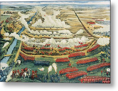Bird's-eye View Of The Battle Of Tel El-kebir Metal Print
