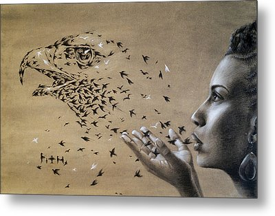 Birds Of Poetry  Metal Print by Fithi Abraham