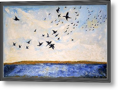 Birds In Flight At Pushkar Metal Print by Anand Swaroop Manchiraju