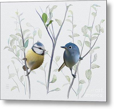 Birds In Tree Metal Print