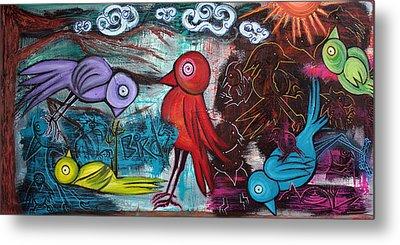 Birds Metal Print by Laura Barbosa