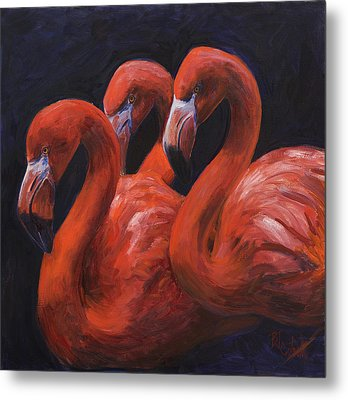 Birds Of A Feather Metal Print by Billie Colson