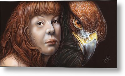 Birds Of Prey - Golden Eagle Metal Print by Wayne Pruse