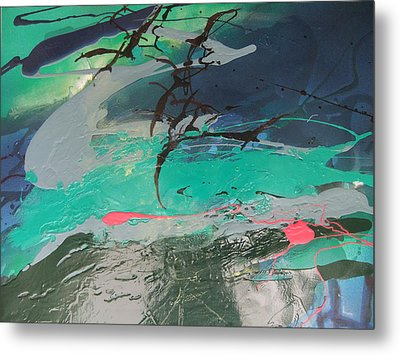 Birds Over The Sea Metal Print by Joyce Garvey
