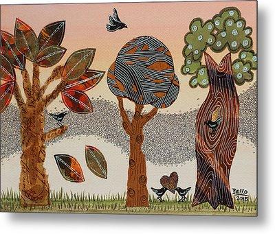 Birds Refuge Metal Print by Graciela Bello