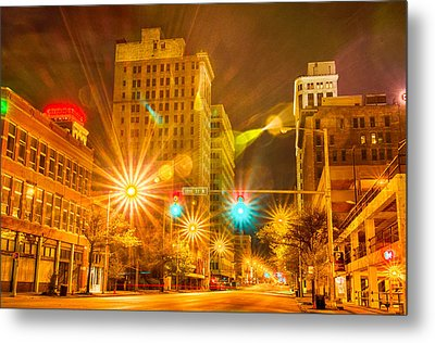 Birmingham Alabama Evening Skyline Metal Print by Alex Grichenko
