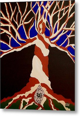 Metal Print featuring the painting Birth by Carolyn Cable