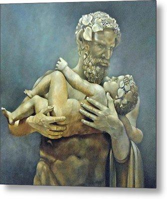 Birth Of Bacchus Metal Print by Geraldine Arata
