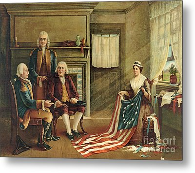 Birth Of Our Nation's Flag Metal Print