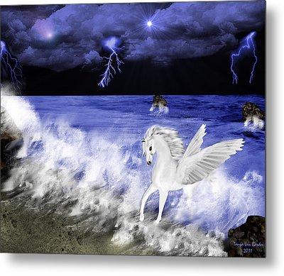 Birth Of Pegasus Metal Print by Tanya Van Gorder