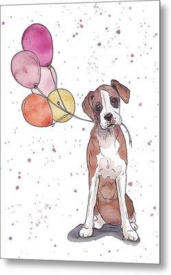 Birthday Boxer Metal Print