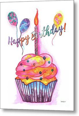 Birthday Cupcake Metal Print by Debbie DeWitt
