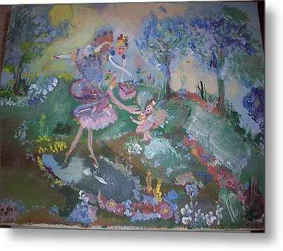 Metal Print featuring the painting Birthday Fairy by Judith Desrosiers