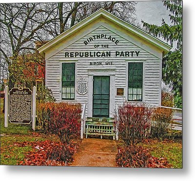 Birthplace Republican Party Metal Print by Trey Foerster