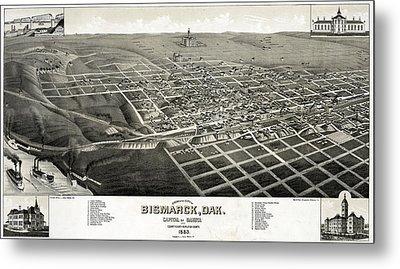 Bismarck, North Dakota, The Capital Metal Print by Everett