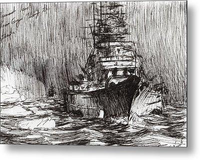 Bismarck Off Greenland Metal Print