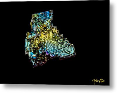 Metal Print featuring the photograph Bismuth Crystal by Rikk Flohr