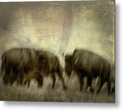 Metal Print featuring the photograph Bison 3 by Joye Ardyn Durham