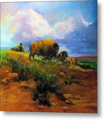 Bison Bluff Metal Print by Robert Carver