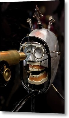 Bite The Bullet - Steampunk Metal Print by Betty Denise