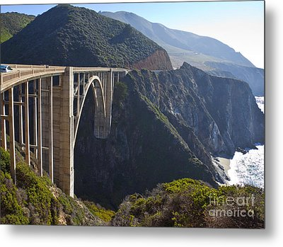 Bixby Bridge Crossing A Chasm Metal Print by David Buffington