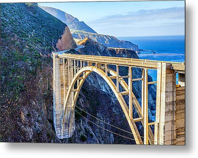 Bixby Bridge Metal Print by Joseph S Giacalone