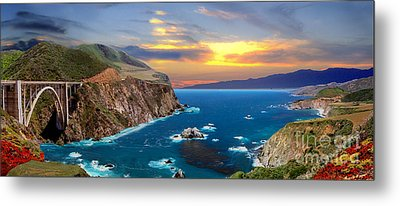 Metal Print featuring the photograph Bixby Creek Bridge by David Zanzinger