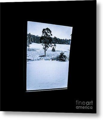 Black And Blue Snow Landscape Metal Print by Jorgo Photography - Wall Art Gallery
