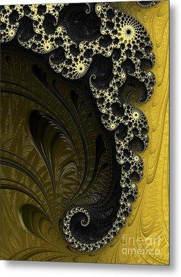 Black And Gold Elegance Metal Print by Elaine Teague