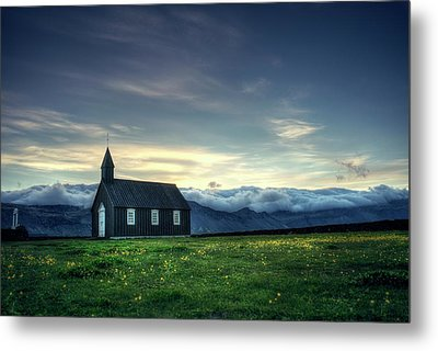 Metal Print featuring the photograph Black And Isolated by Peter Thoeny