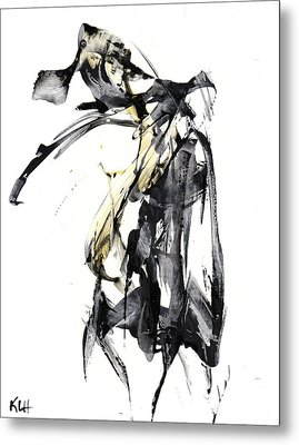 Black And White Abstract Expressionism Series 7344.072009 Metal Print by Kris Haas