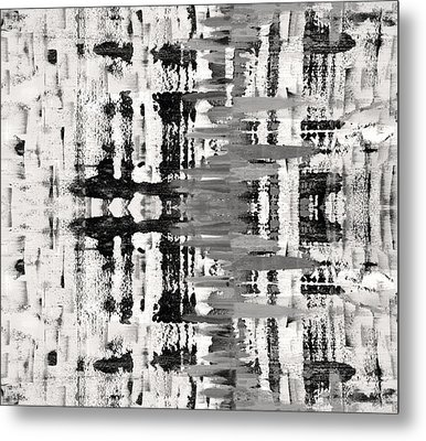 Black And White Abstract Metal Print by Sumit Mehndiratta