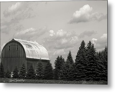Metal Print featuring the photograph Black And White Barn by Joann Copeland-Paul