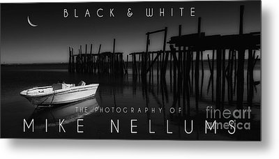 Black And White Coffee Table Book Cover Metal Print by Mike Nellums