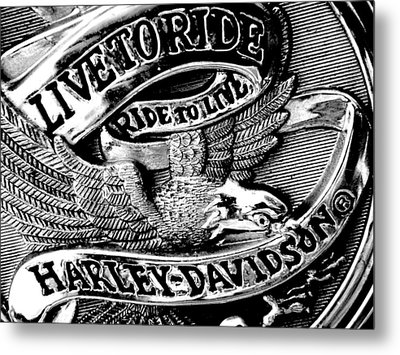 Black And White Emblem Metal Print by Chris Berry
