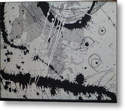 Black And White Four Metal Print by Tracy Bonin