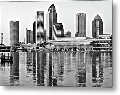 Black And White In The Heart Of Tampa Bay Metal Print